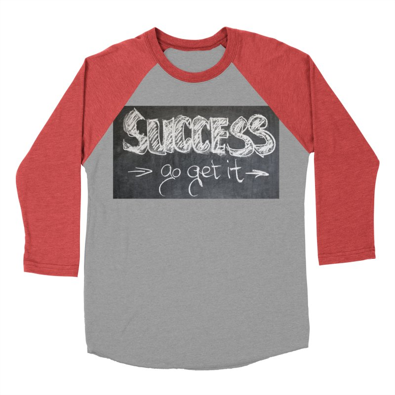 Success Men's Baseball Triblend Longsleeve T-Shirt by Antonio's Artist Shop