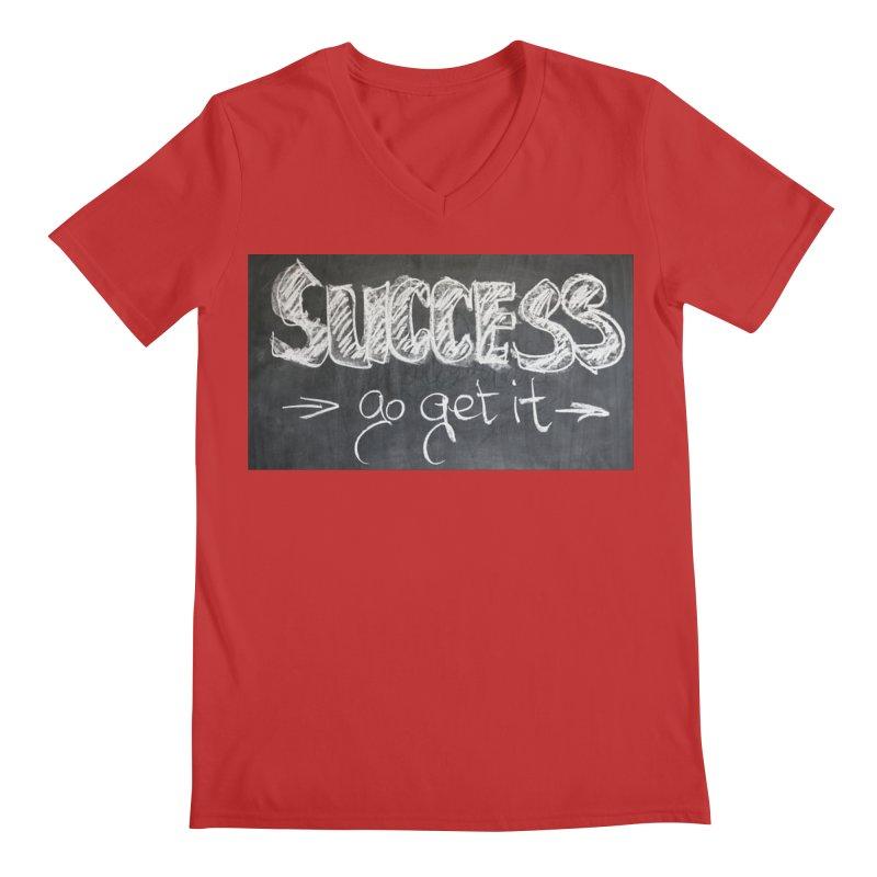 Success Men's Regular V-Neck by Antonio's Artist Shop