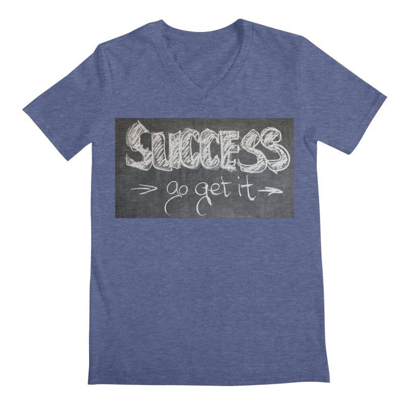 Success Men's V-Neck by Antonio's Artist Shop