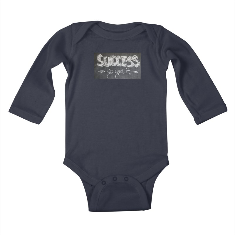 Success Kids Baby Longsleeve Bodysuit by Antonio's Artist Shop