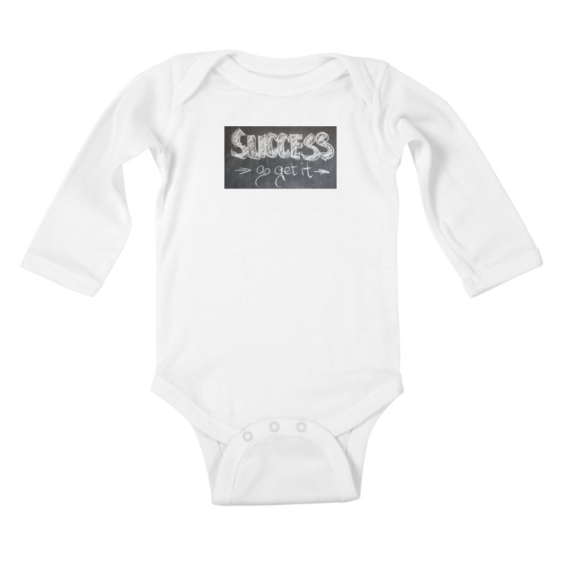 Success Kids Baby Longsleeve Bodysuit by Antonio's Artist Shop