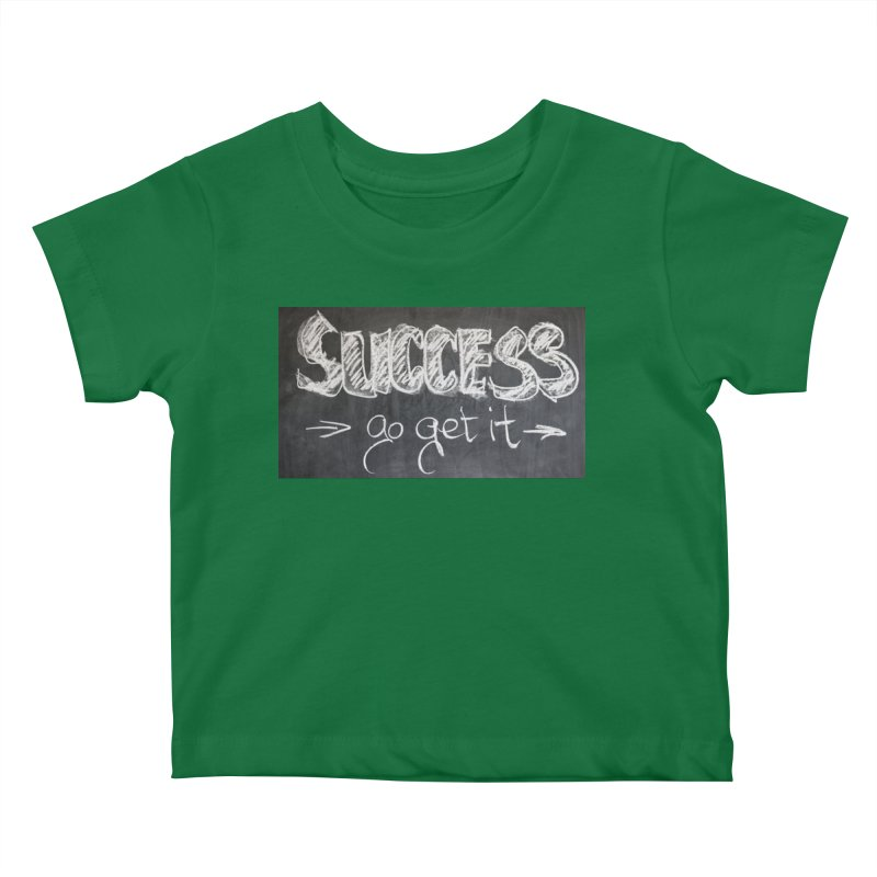Success Kids Baby T-Shirt by Antonio's Artist Shop