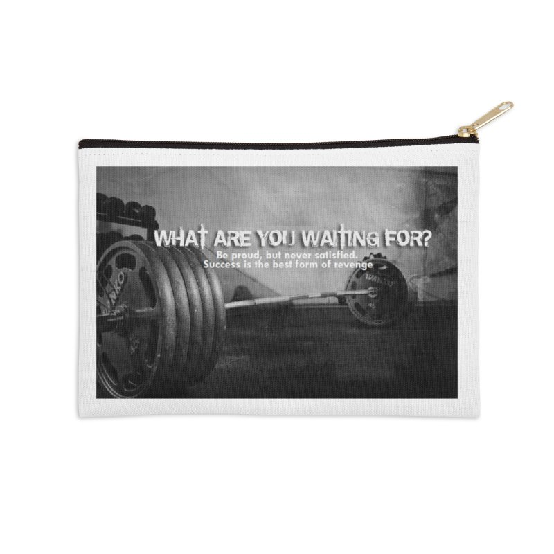 Waiting Accessories Zip Pouch by Antonio's Artist Shop