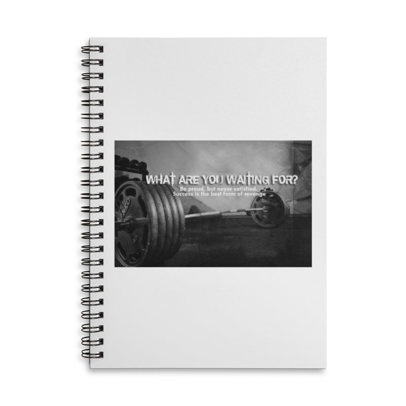 Waiting Accessories Lined Spiral Notebook by Antonio's Artist Shop