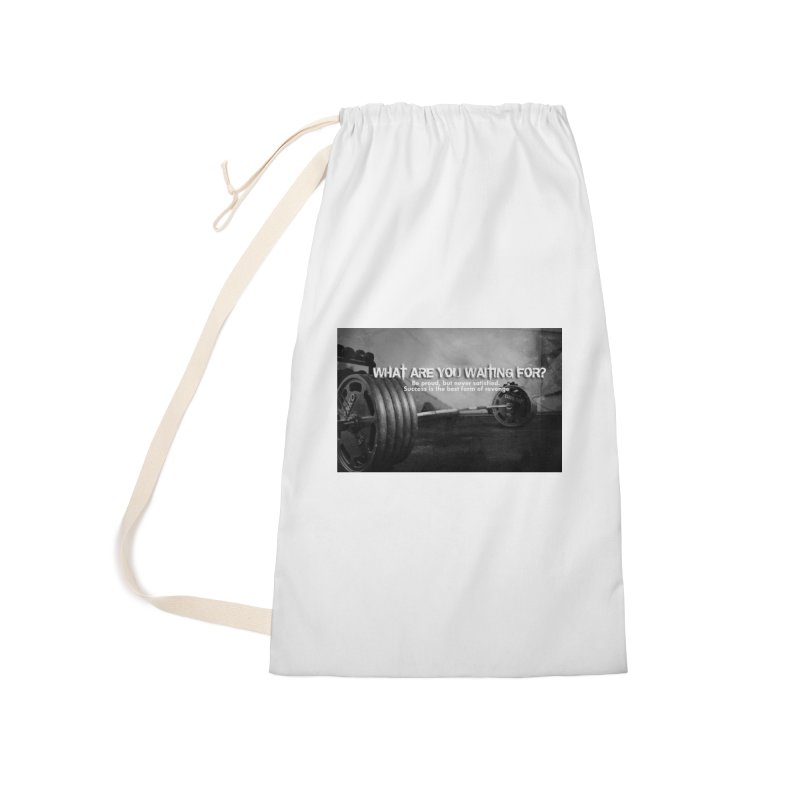 Waiting Accessories Laundry Bag Bag by Antonio's Artist Shop