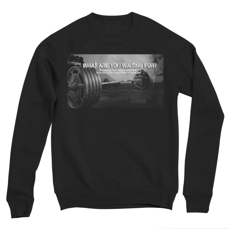 Waiting Men's Sponge Fleece Sweatshirt by Antonio's Artist Shop