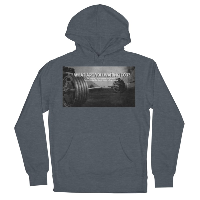 Waiting Men's French Terry Pullover Hoody by Antonio's Artist Shop