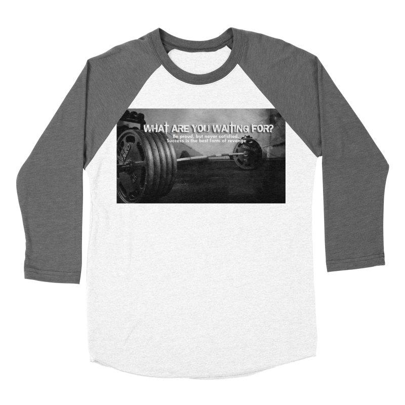 Waiting Women's Baseball Triblend Longsleeve T-Shirt by Antonio's Artist Shop