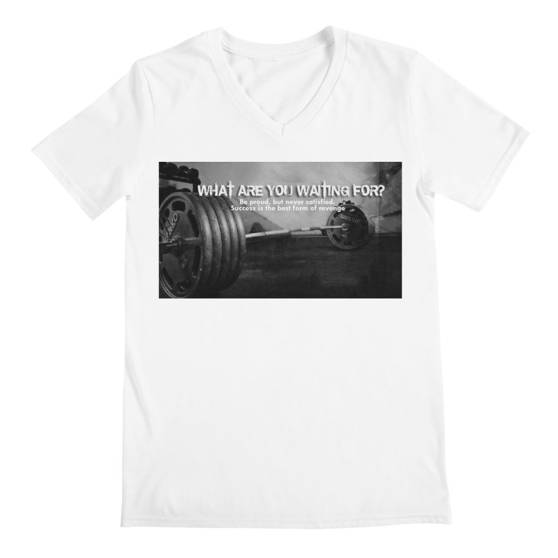 Waiting Men's V-Neck by Antonio's Artist Shop