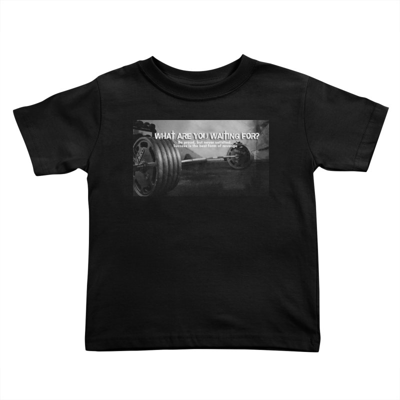 Waiting Kids Toddler T-Shirt by Antonio's Artist Shop