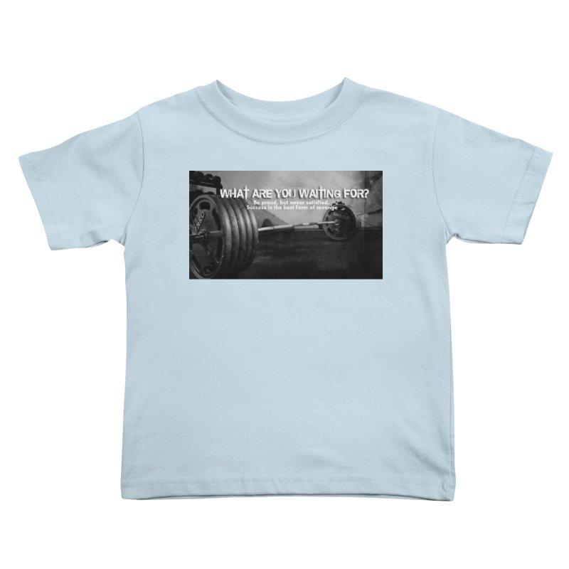 Waiting Kids Toddler T-Shirt by Antonio's Artist Shop