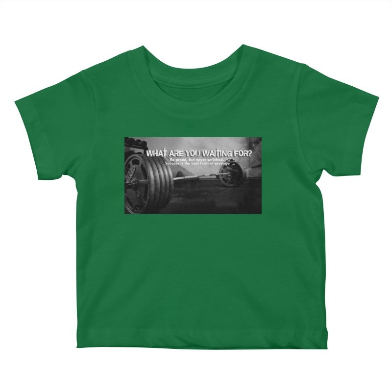 Waiting Kids Baby T-Shirt by Antonio's Artist Shop