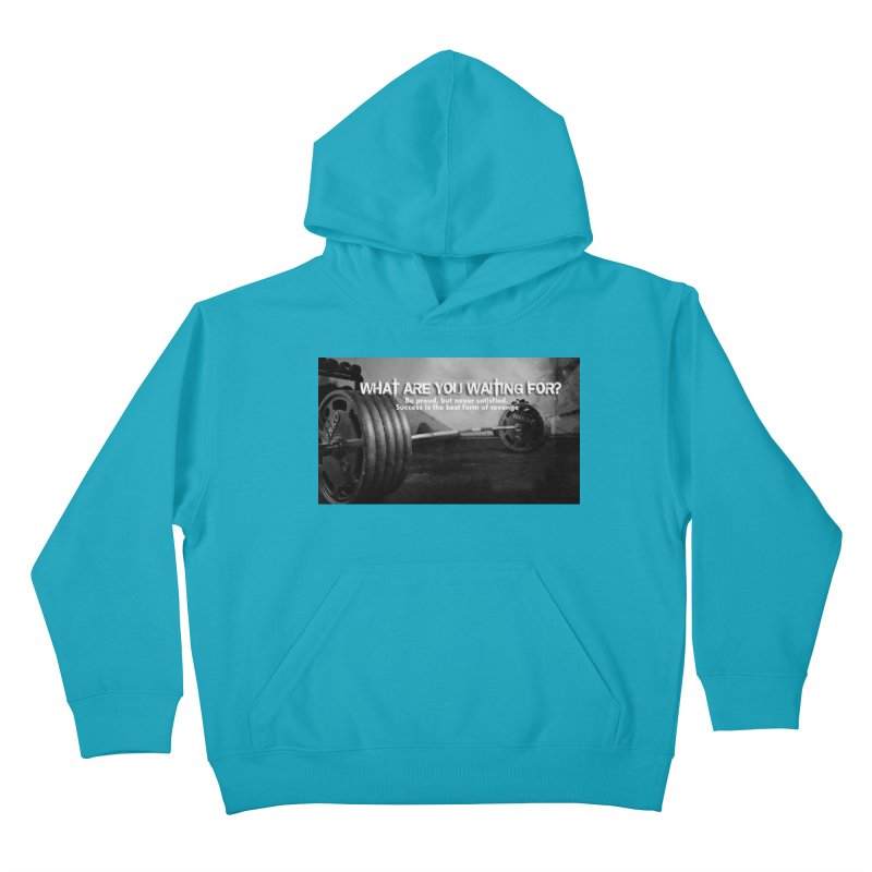 Waiting Kids Pullover Hoody by Antonio's Artist Shop