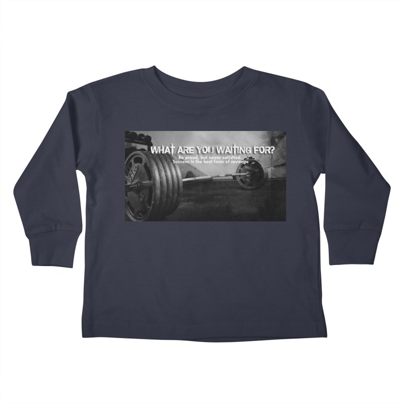 Waiting Kids Toddler Longsleeve T-Shirt by Antonio's Artist Shop