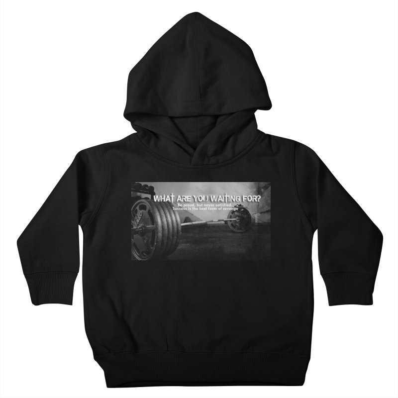 Waiting Kids Toddler Pullover Hoody by Antonio's Artist Shop