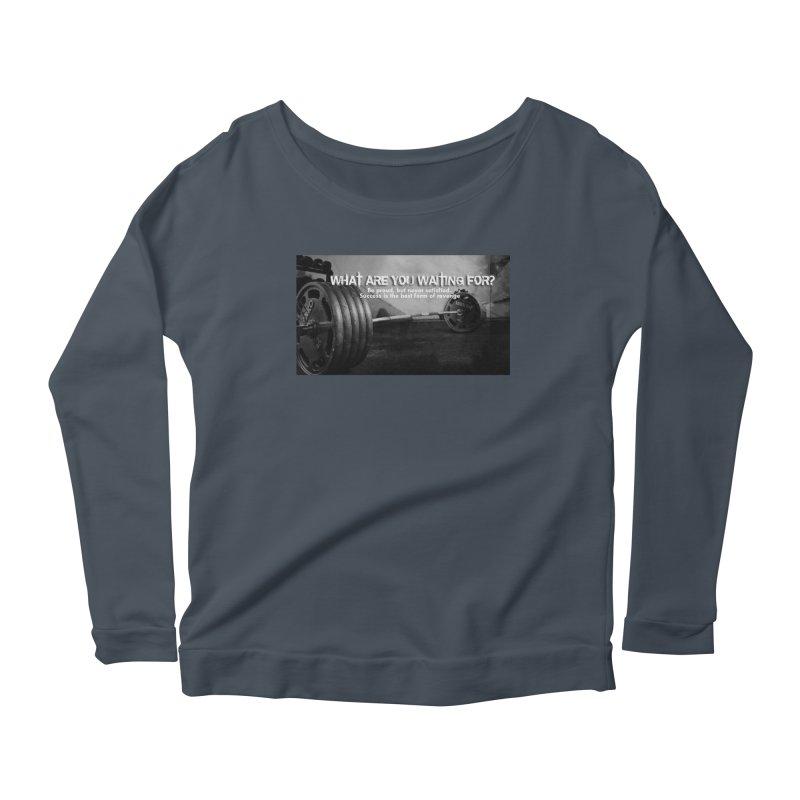 Waiting Women's Scoop Neck Longsleeve T-Shirt by Antonio's Artist Shop