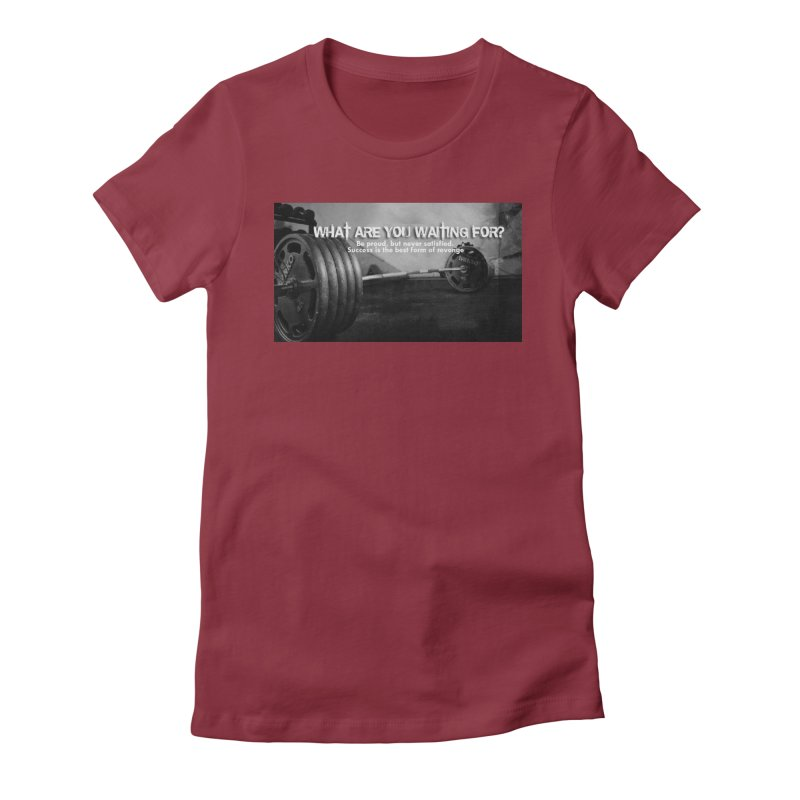 Waiting Women's Fitted T-Shirt by Antonio's Artist Shop