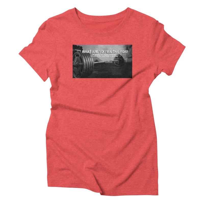 Waiting Women's Triblend T-Shirt by Antonio's Artist Shop