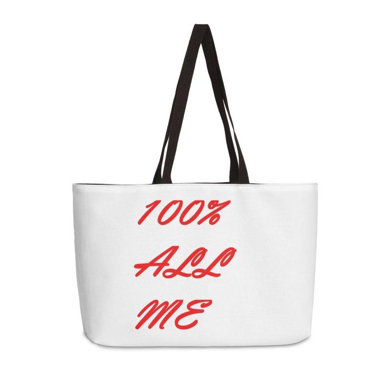 100% Accessories Weekender Bag Bag by Antonio's Artist Shop