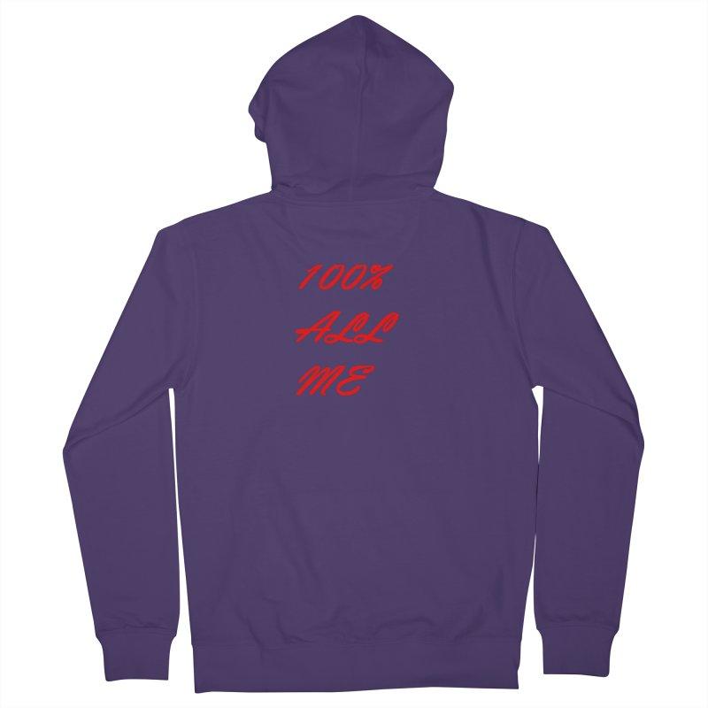 100% Women's Zip-Up Hoody by Antonio's Artist Shop