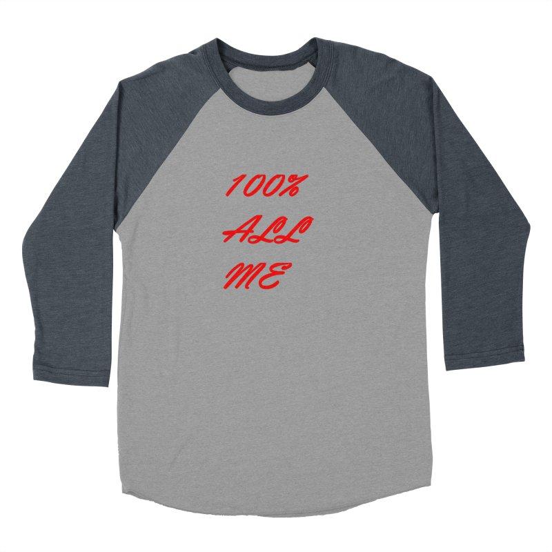 100% Women's Baseball Triblend Longsleeve T-Shirt by Antonio's Artist Shop