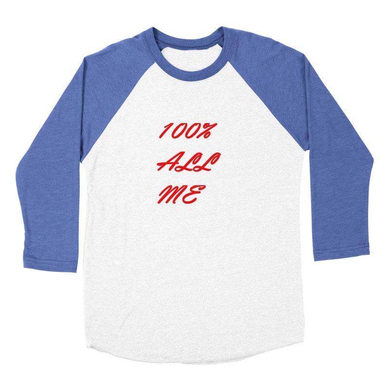 100% Men's Baseball Triblend Longsleeve T-Shirt by Antonio's Artist Shop
