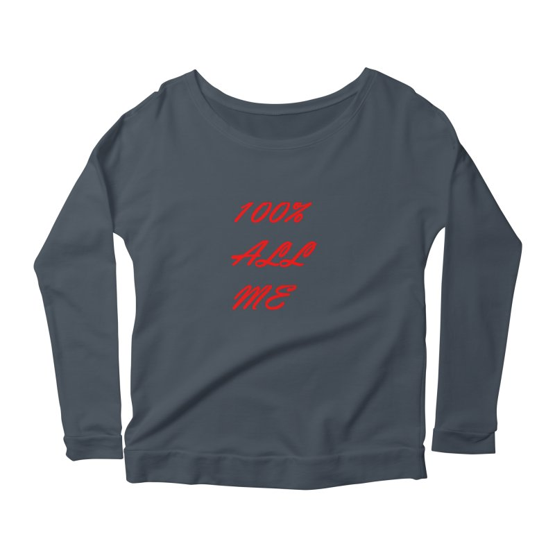 100% Women's Scoop Neck Longsleeve T-Shirt by Antonio's Artist Shop
