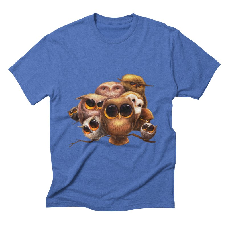 Little Owls Men's Triblend T-shirt by AntoZ