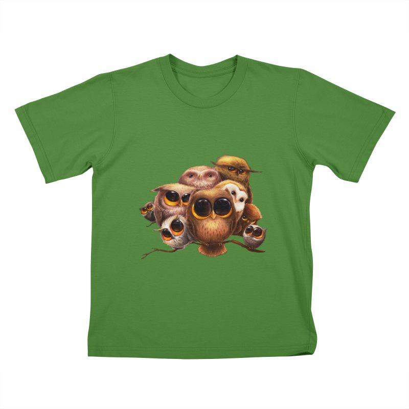 Little Owls Kids T-Shirt by AntoZ