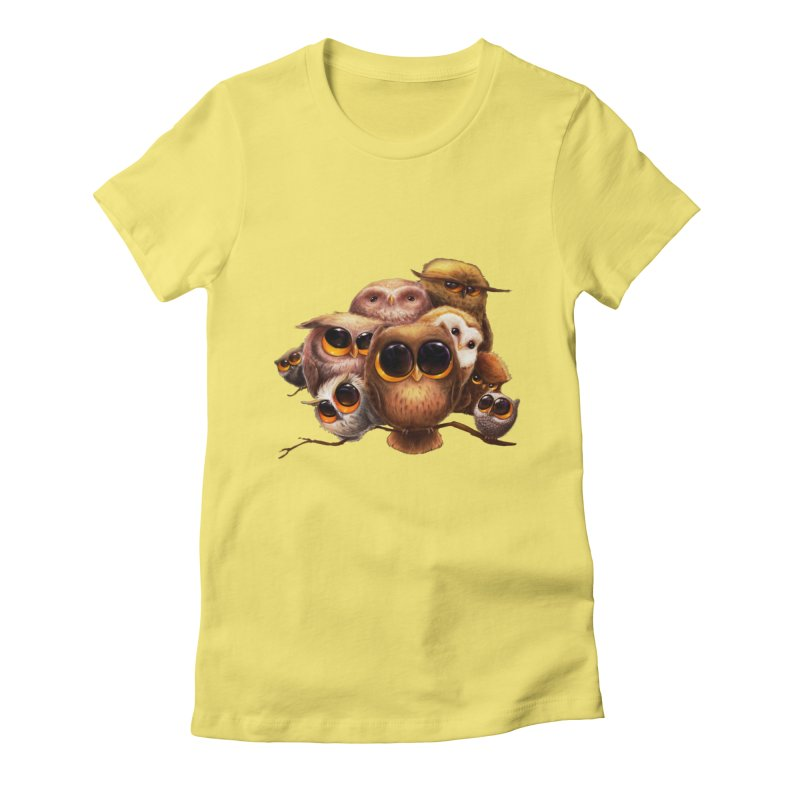 Little Owls Women's Fitted T-Shirt by AntoZ