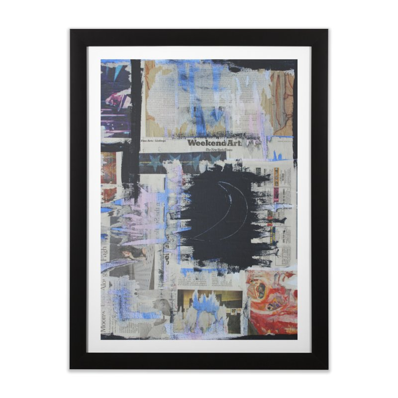 Weekend Arts Blues 1x Home Framed Fine Art Print by An Vii Artist Shop