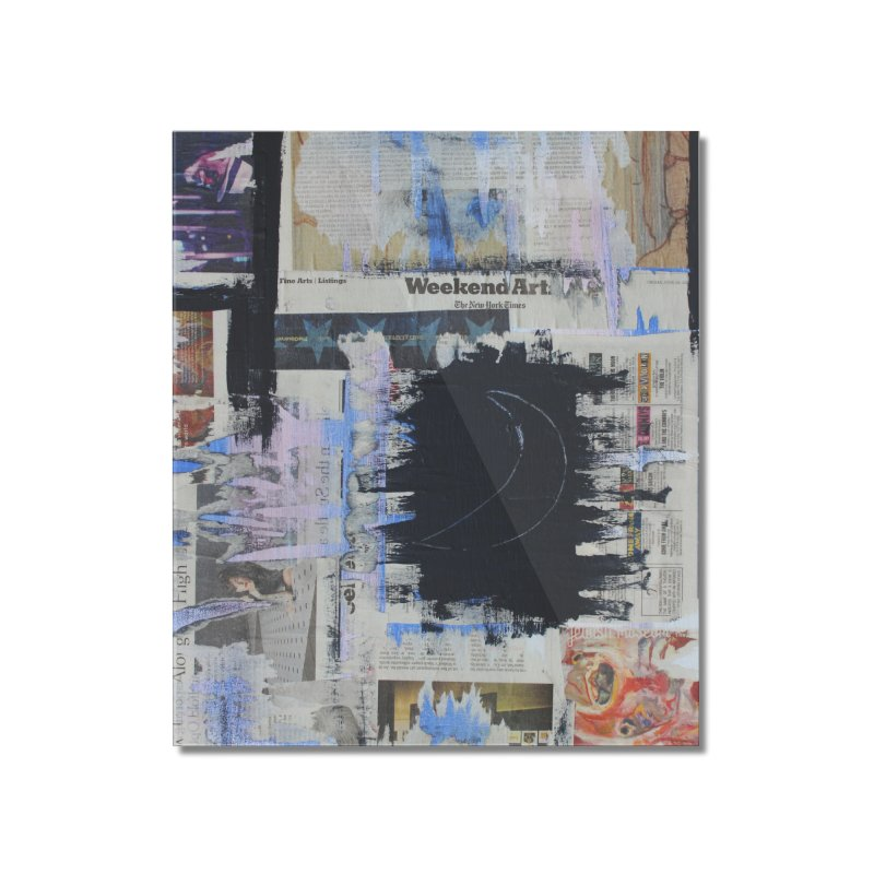 Weekend Arts Blues 1x Home Mounted Acrylic Print by An Vii Artist Shop