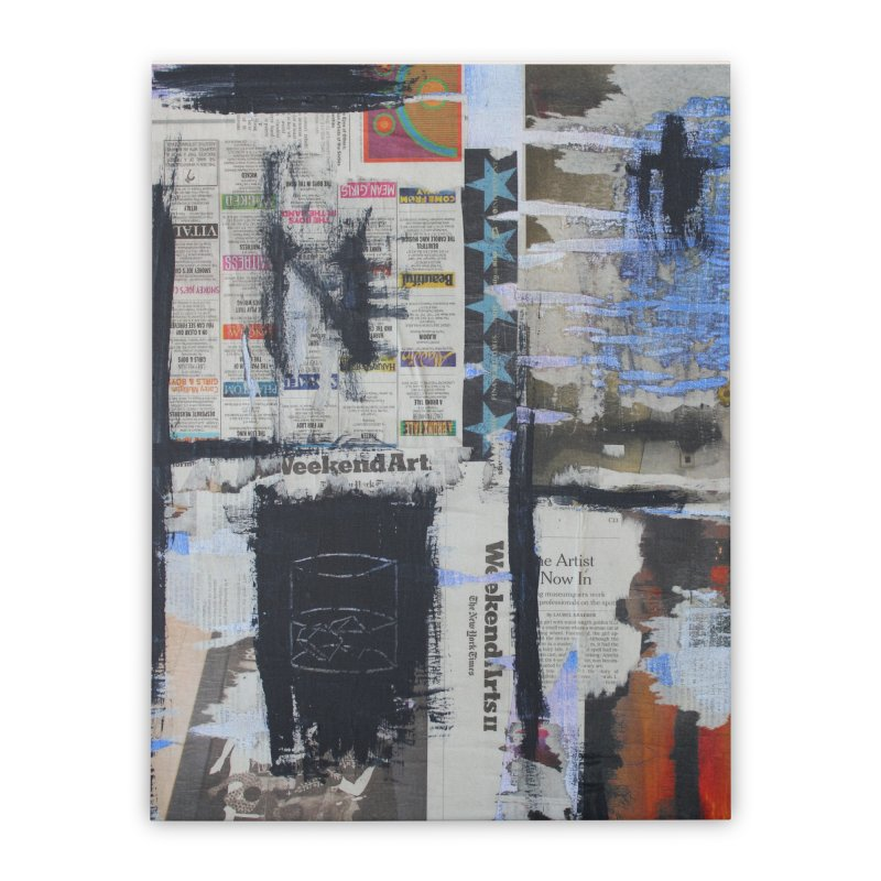 Weekend Arts Blues 2x Home Stretched Canvas by An Vii Artist Shop