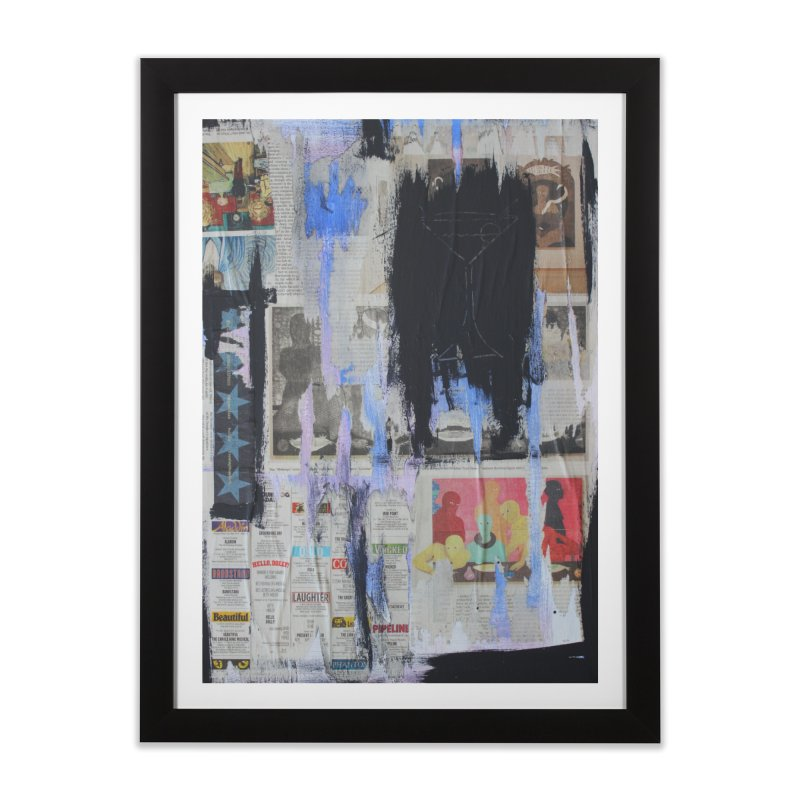 Weekend Arts Blues 3x Home Framed Fine Art Print by An Vii Artist Shop