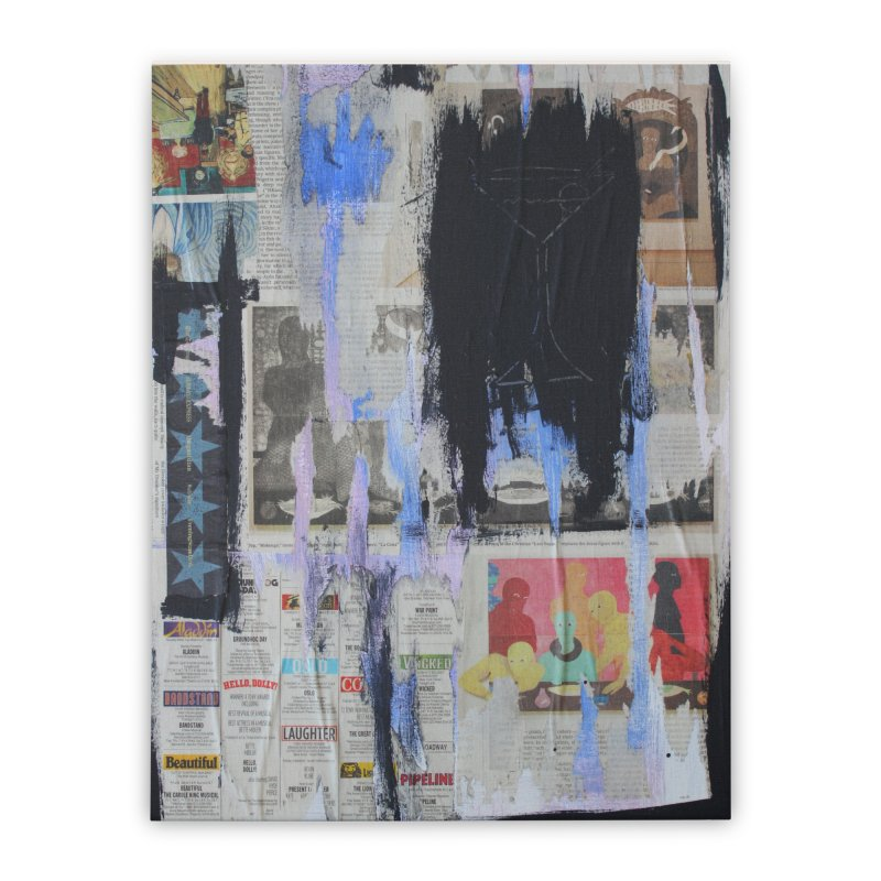 Weekend Arts Blues 3x Home Stretched Canvas by An Vii Artist Shop