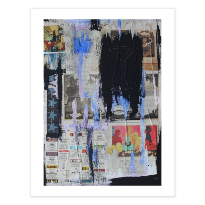 Weekend Arts Blues 3x Home Fine Art Print by An Vii Artist Shop