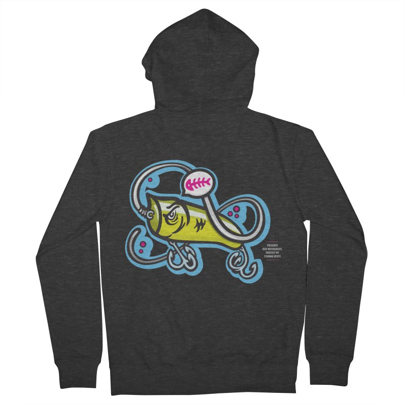 Lure Women's French Terry Zip-Up Hoody by anyafelch's Artist Shop