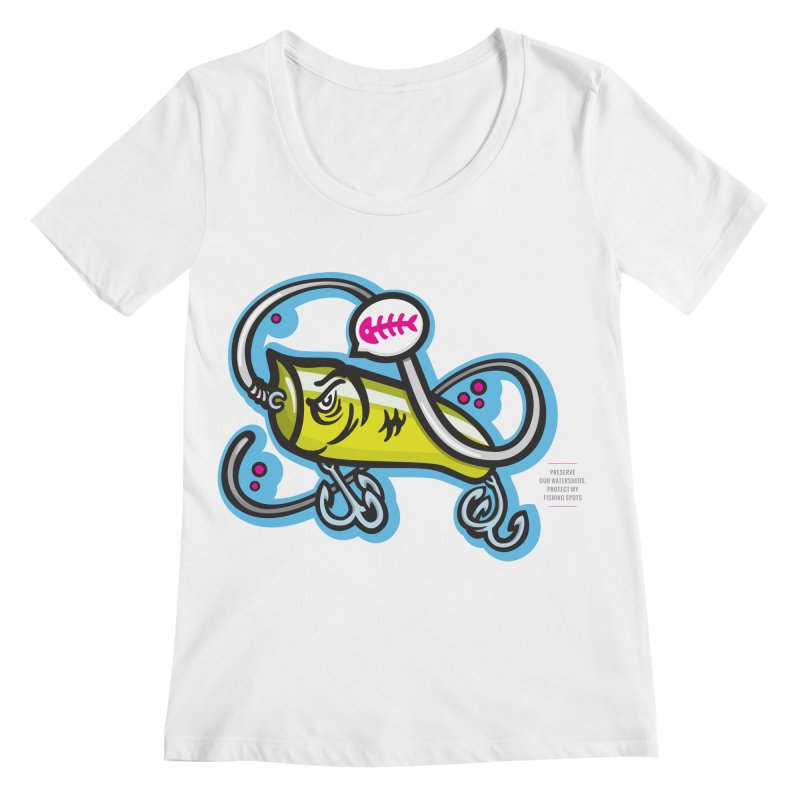 Lure White Women's Regular Scoop Neck by anyafelch's Artist Shop