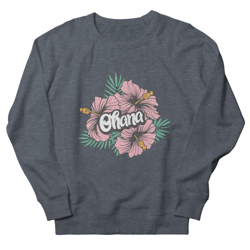 Ohana Men's French Terry Sweatshirt by anyafelch's Artist Shop