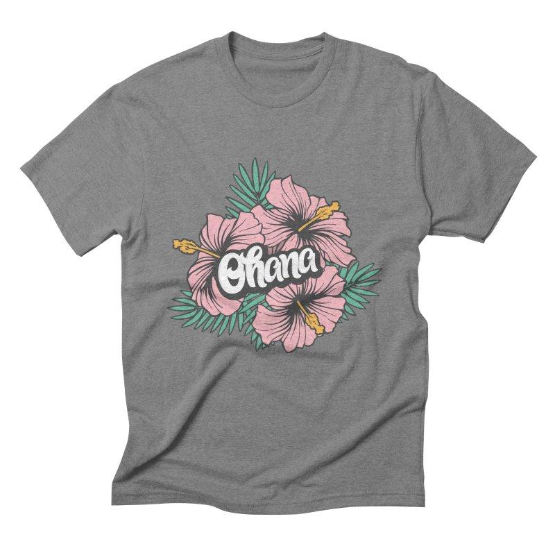 Ohana Men's Triblend T-Shirt by anyafelch's Artist Shop