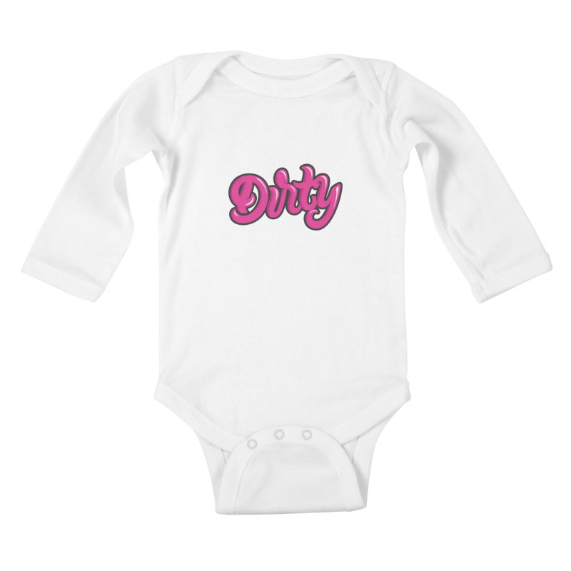 Dirty Kids Baby Longsleeve Bodysuit by anyafelch's Artist Shop