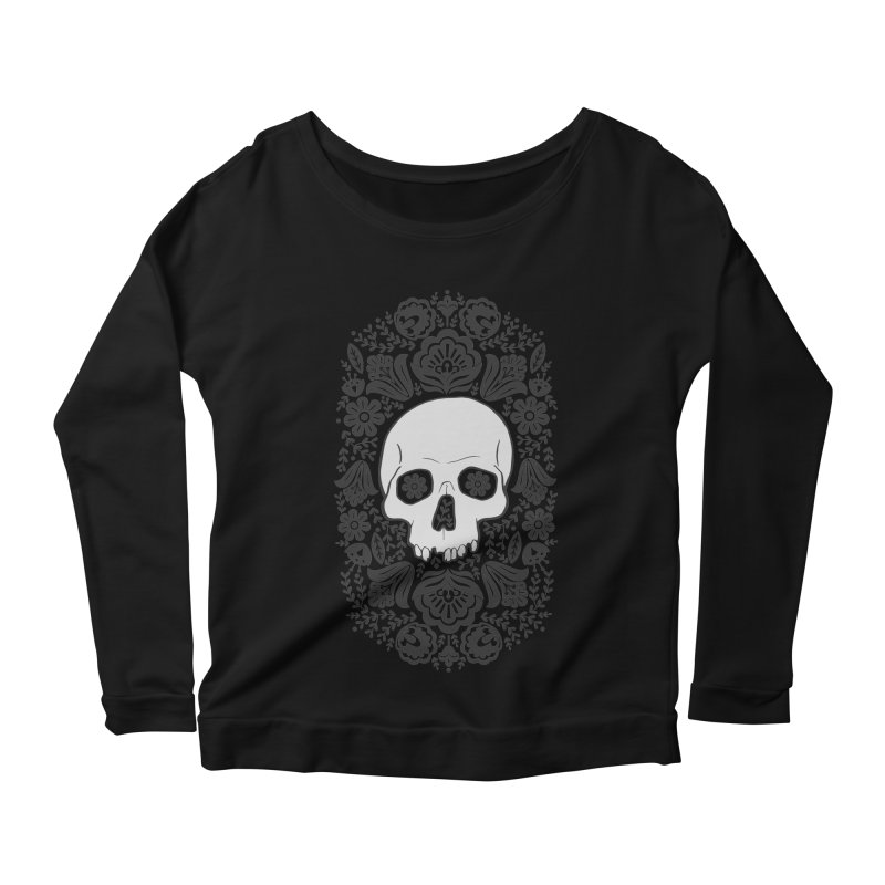Life's too short, smell some flowers Women's Scoop Neck Longsleeve T-Shirt by anyafelch's Artist Shop