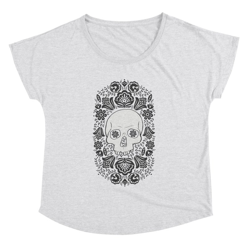 Life's too short, smell some flowers 2 Women's Dolman Scoop Neck by anyafelch's Artist Shop