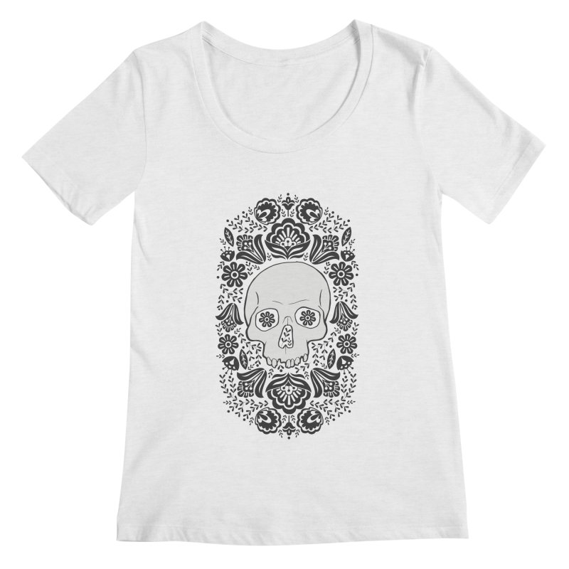 Life's too short, smell some flowers 2 Women's Regular Scoop Neck by anyafelch's Artist Shop