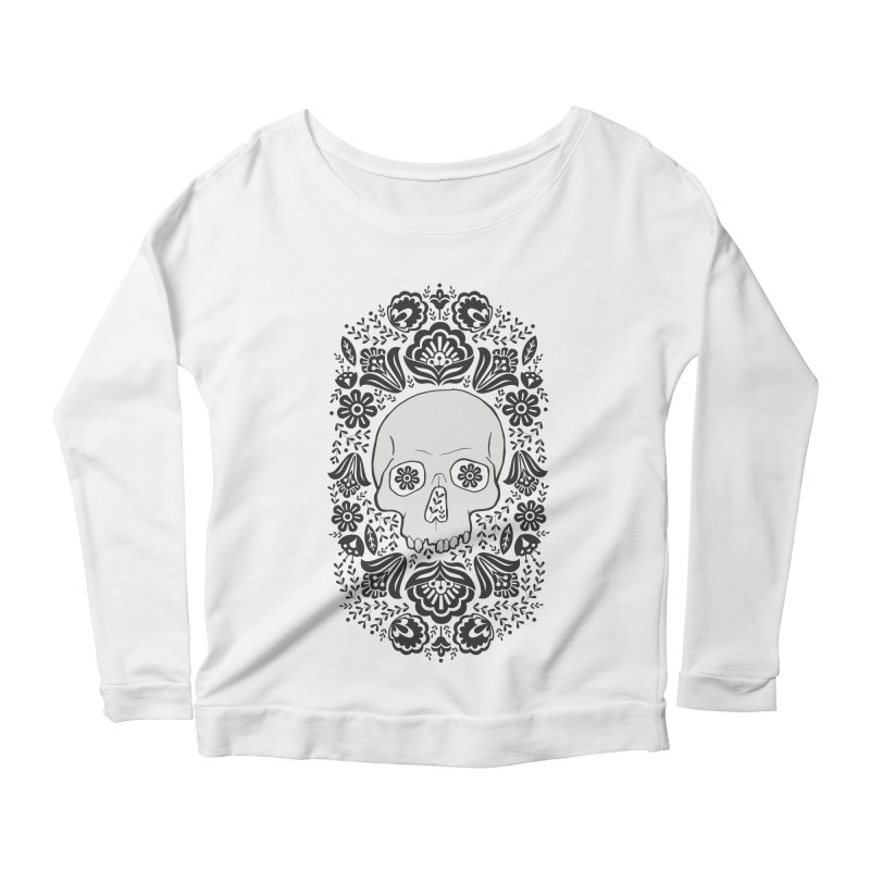 Life's too short, smell some flowers 2 Women's Scoop Neck Longsleeve T-Shirt by anyafelch's Artist Shop