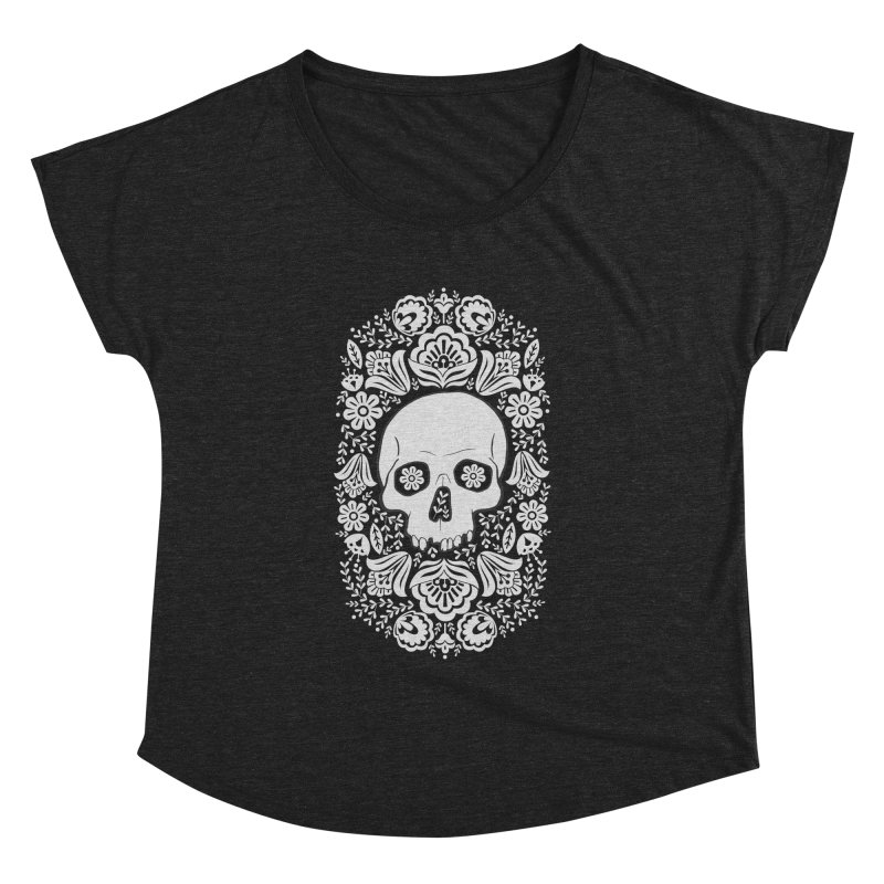 Life's too short, smell some flowers 3 Women's Dolman Scoop Neck by anyafelch's Artist Shop