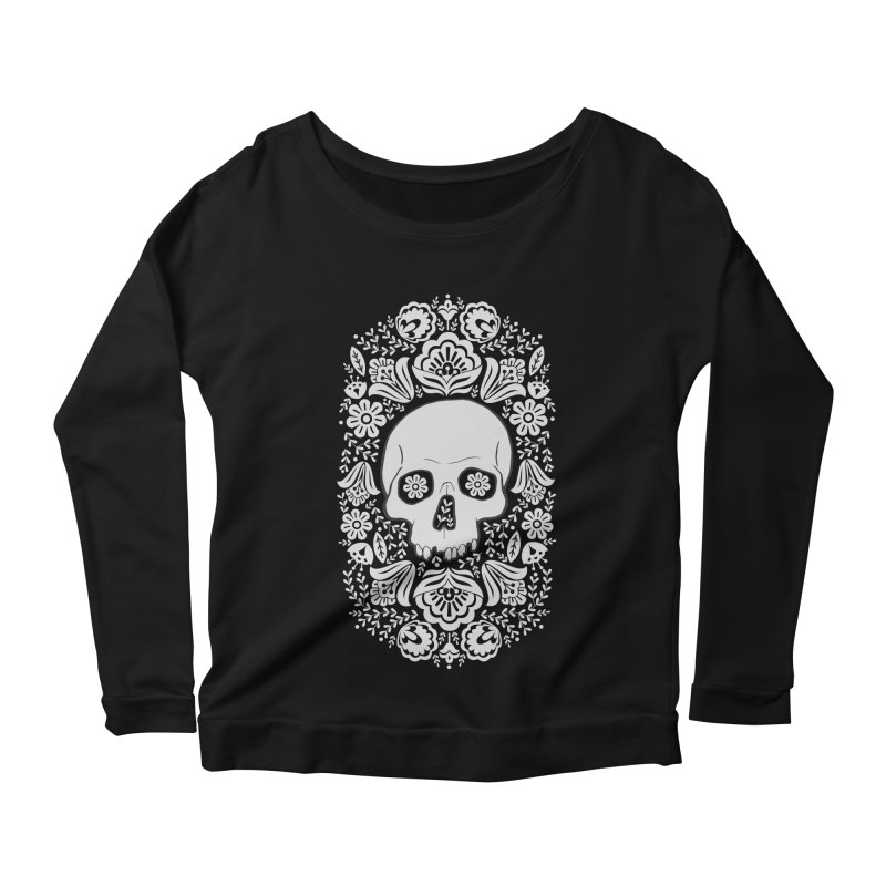 Life's too short, smell some flowers 3 Women's Scoop Neck Longsleeve T-Shirt by anyafelch's Artist Shop