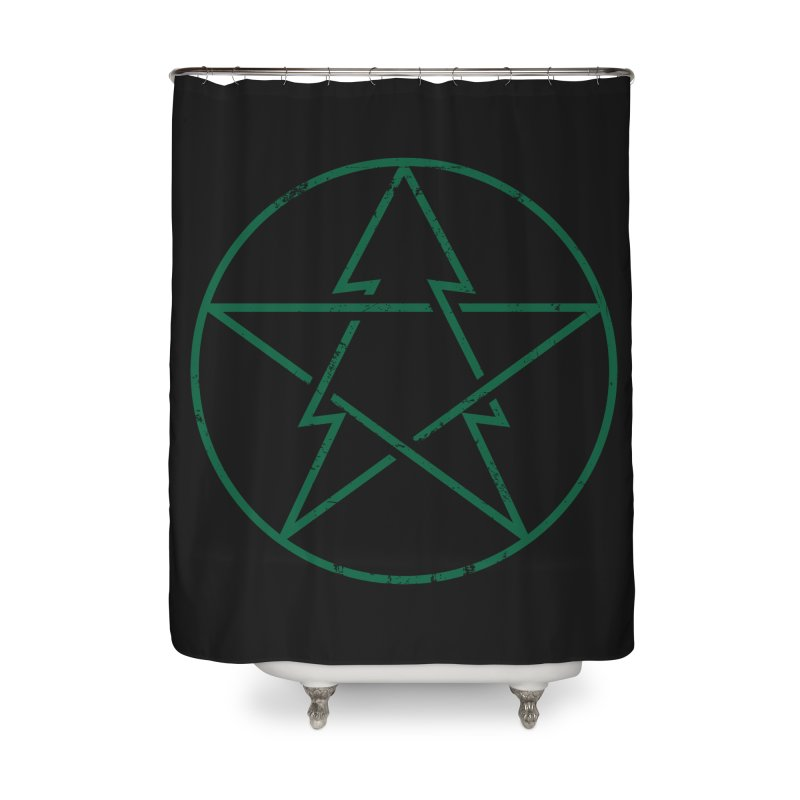 Pinetagram Home Shower Curtain by aparaat's artist shop