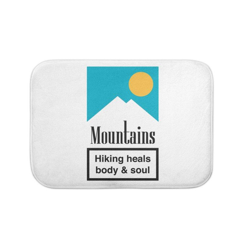 Mountains Home Bath Mat by aparaat's artist shop