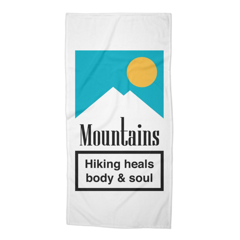Mountains Accessories Beach Towel by aparaat's artist shop
